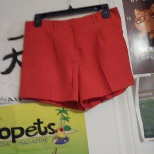 Forever 21 Red Polyester Dress Shorts (Damaged)